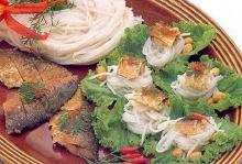 เมี่ยงปลาทูขนมจีน
