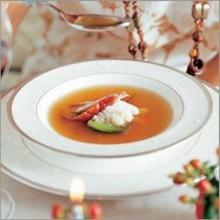 ซุปใสเป็ดย่างกับต้นหอม