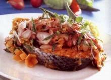 ลาบปลาแซลมอน