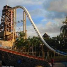 สไลด์เดอร์สูง 41 เมตรท้าผู้กล้าทั้งสูงทั้งชัน