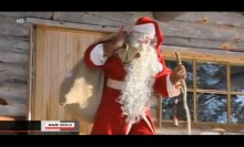 ซานตาคลอสพร้อมถุงของขวัญออกเดินทางจากฟินแลนด์แล้ว