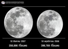คนไทยเฮชมจันทร์เต็มดวงใหญ่สุดในรอบปี