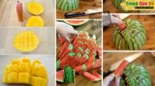 ง่ายและน่ากิน! หั่นมะม่วง - แตงโม แบบนี้สิ...! รับรองสวย เนื้อไม่ช้ำ