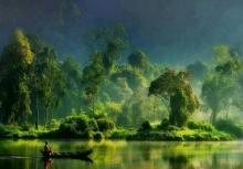 ภาพวิถีบ้านๆ ในน้ำมีปลาในนามีข้าว กลิ่นโคลนสาบควายท้องทุ่งสีเขียว!!