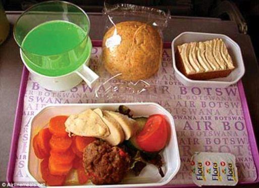 อาหารที่มีแต่ผักบนบนสายการบินเอสโตเนีย