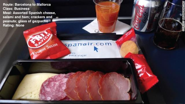 อาหารว่างที่สมบูรณ์แบบที่สุดของสายการบิน Spanair