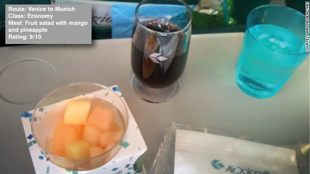 ขนาดอาหารที่เหมาะสมและสดชื่นสำหรับเที่ยวบินระยะสั้น Air Dolomiti