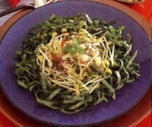 ยำผักกับถั่วงอกหัวโต
