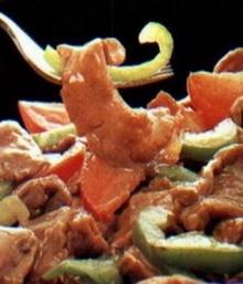 เนื้ออบพริกหวาน (ไมโครเวฟ)