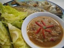 น้ำพริกป่าแมงดา ปลาทูย่าง