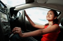 โยคะในรถยามจราจรติดขัด