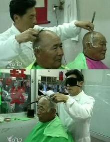 สุดยอด ช่างชาวจีนปิดตาตัดผม