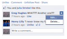 Facebook เปิดให้ผู้ใช้ สามารถแก้ไขโพสความเห็นของตัวเองได้