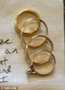 คู่รักช็อกอึ้ง คนร้ายเขียนจม.ขอโทษ-คืนแหวนแต่งงานขโมยมากว่า 15 ปี