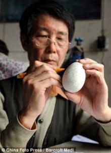 สุดยอด!การแกะสลักเปลือกไข่ ของ Wen Fuliang