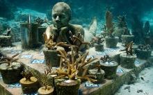 ศิลปะใต้น้ำที่พิพิธภัณฑ์ใต้น้ำแคนคัน เม็กซิโก