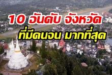 เปิดลิสต์10 อันดับ จังหวัดที่มีคนจน มากที่สุดในประเทศไทย