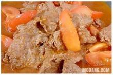 เนื้อผัดมะเขือเทศ