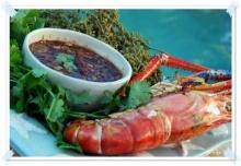 สูตรอาหาร – สะเดาน้ำปลาหวาน-กุ้งเผา