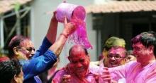 เทศกาลเล่นสีในอินเดีย