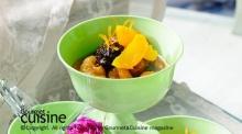 สตูผลไม้แห้งกับน้ำส้มสด