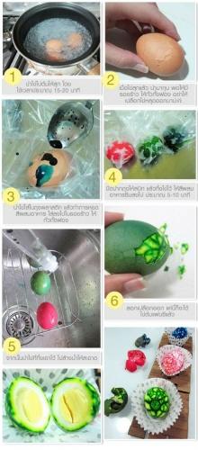 ไข่ต้มแฟนซี หลากสีสัน !!!!