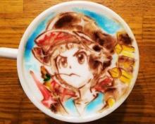 สีสันกาแฟ latte arts การ์ตูนของญี่ปุ่น