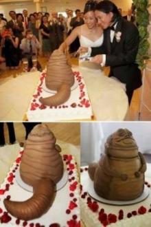อึ้ง!! นี้คือ เค้กแต่งงานที่สุดแสนจะแปลก!!!