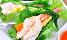 เมนูสุขภาพ!! กุ้งพันผัก - กุ้งห่อผัก