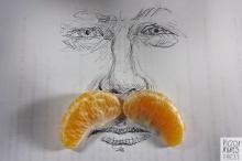 สุดเจ๋ง ศิลปะจากกลีบผลส้ม