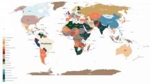 แผนที่ที่ให้คุณเห็นว่าคนทั้งโลกเสิร์ชหาสินค้าใดมากที่สุดในแต่ละประเทศ