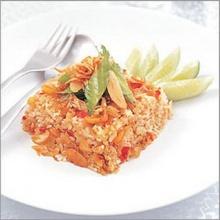 ข้าวผัดปลาแห้งน้ำพริกระกำ