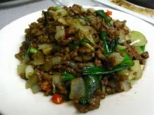 เนื้อผัดพริกไทยอ่อน