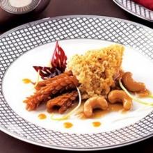ปลาดุกฟูผัดพริกแห้งกับเม็ดมะม่วงหิมพานต์