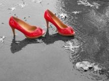 การดูแลรองเท้าเปียกฝน