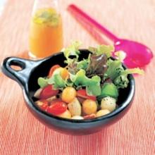 สลัดผลไม้น้ำส้มสด