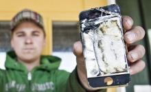 สุดช็อค iPhone 4S ไหม้คากระเป๋ากางเกงหนุ่มดวงซวย