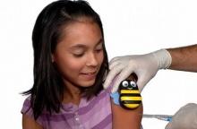 ผึ้งตัวน้อยช่วยลบความเจ็บจากเข็มฉีดยา