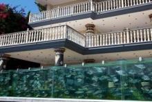 เศรษฐีตุรกีทำรั้วบ้านเป็นอะควาเรียมสัตว์น้ำทะเลยาวเกือบ 50 เมตร (มีคลิป)