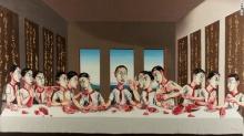 ภาพกระยาหารมื้อสุดท้ายของศิลปินจีนทุบสถิติทวีป ถูกประมูลไปกว่า 699 ล้านบ.