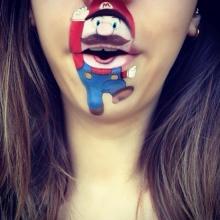 น่าร็อกอ่ะ!! แต่งปากเป็นรูปการ์ตูนสุด cute