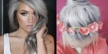 13 ภาพ สีผมคุณยาย เทรนด์มาแรงของสาวๆที่สวยแซ่บสุดๆ!!
