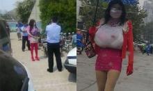 เหมือนจะเนียน! นักถ้ำมองหัวใสปลอมตัวเป็นผู้หญิงบุกห้องน้ำสาธารณะ!