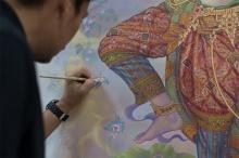 ฉากบังเพลิง งานรังสรรค์ศิลป์สุดวิจิตรบรรจง ถวายแด่ในหลวงรัชกาลที่ 9