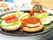 เบอร์เกอร์ไก่พริกไทยขาว