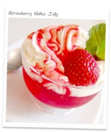 Strawberry Vodka Jelly