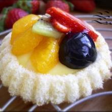 เค้กพุดดิ้งหน้าผลไม้