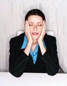 สาวออฟฟิศเครียดจนหัวล้าน