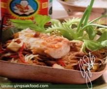 หอยเชลล์ผัดผักโสภณ