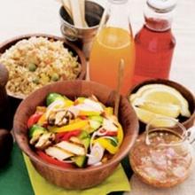 สลัดเห็ดและผักย่าง